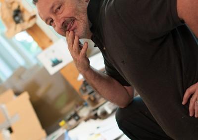bei dino im atelier, juni 2015