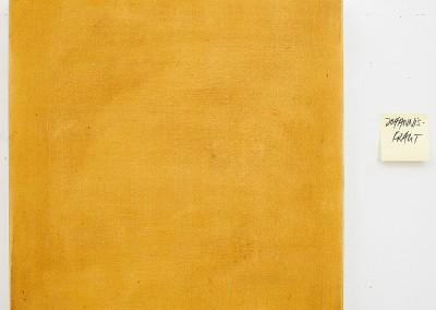 from DAO-serie; 2014 – 2015, pflanzensaft (hypericum perforatum, johanniskraut), gummiarabicum, 50 x 50 cm