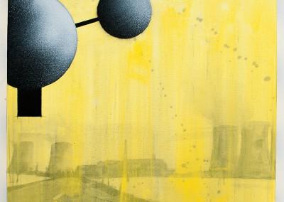 from DAO-serie; 2014 – 2015, pigmente, tusche, gummiarabicum, acryl, klebeband, 50 x 50 cm