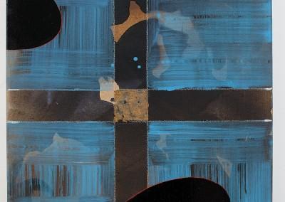 from DAO-serie; 2014 – 2015, erlentinte, eichengallentinte, gummiarabicum, farbstift, acryl, blattgold, 50 x 50 cm